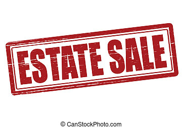 Estate sale - Stamp with text estate sale inside, vector...