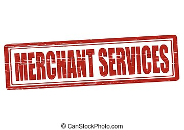 Merchant services - Stamp with text merchant services...
