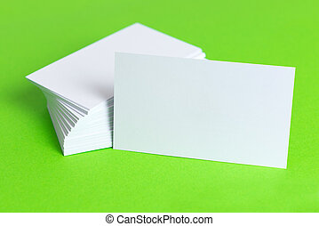 Plain business card - Close up of plain business cards on...