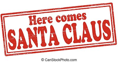 Santa Claus - Stamp with text Santa Claus inside, vector...