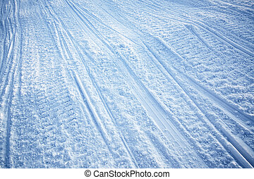 Snowmobile Track Texture - A snow texture of snowmobile...