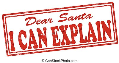 I can explain - Stamp with text i can explain inside, vector...