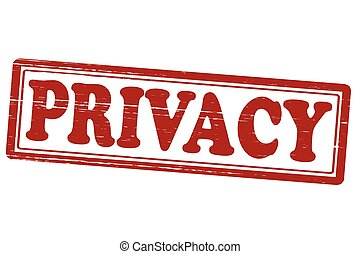 Privacy - Stamp with word privacy inside, vector...