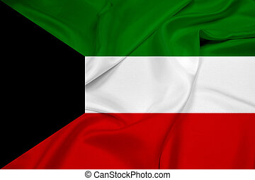 Waving Kuwait Flag
