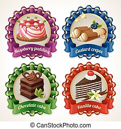 Sweets ribbon banners - Decorative sweets ribbon banners set...