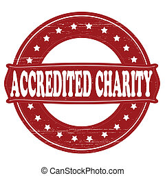 Accredited charity - Stamp with text accredited charity...