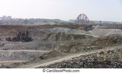 Bridge near open pit
