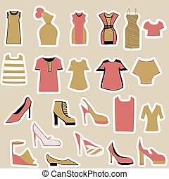 clothing and shoes stickers