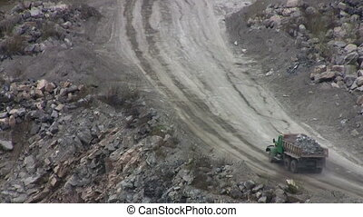 Open Pit Mine truck with ore