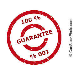 100 percent guarantee stamp