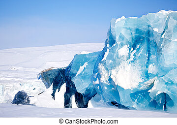 Glacier Detail - A glacier detail on the island of...