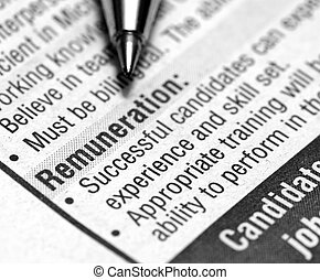 remuneration - This is a image of edited text.