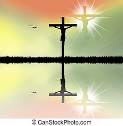 Jesus on cross - illustration of Jesus on cross