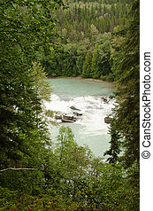Rearguard falls of the Fraser River in Mount Robson...