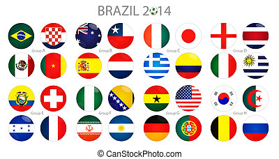Groups of world cup at brasil