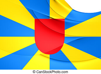 Flag of West Flanders, Belgium Close Up