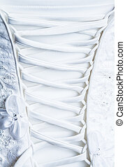 Back Laces of the Bride Wedding dress - Back Laces and...