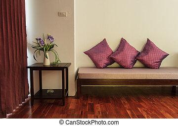 relajación, dormitorio, lujo, Boutique, hotel