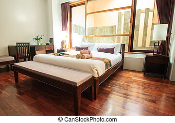 relaxation bedroom of luxury boutique hotel