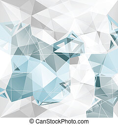 Geometric Abstract background. - 3 D Geometric Abstract...