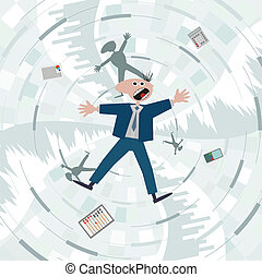 Financial crisis. Fall into the debt trap.