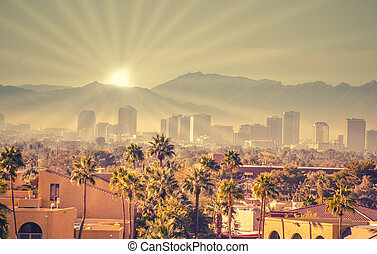 Morning sunrise over Phoenix, AZ