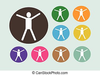 Pictograms people Man Icon Sign Symbol Pictogram