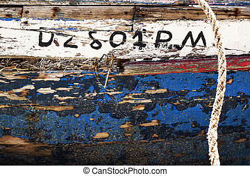 Background abandoned boat, Old boat