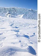 Polar Bear Trail - Footprints from a polar bear in the snow...
