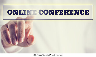 en línea, conferencia