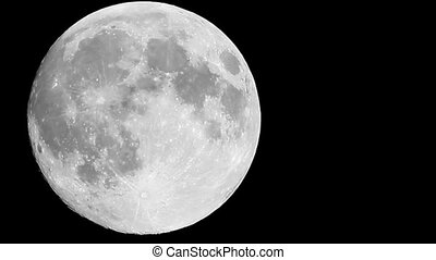 full moon close up - clear full moon close up crossing the...