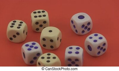 Dice used in games of chance. - Dice that are used in games...