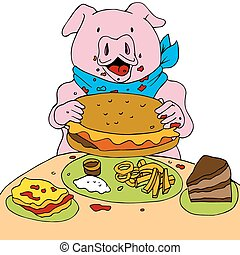 Hungry Pig - An image of a hungry pig