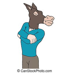 Stubborn As A Mule - An image of being stubborn as a mule.