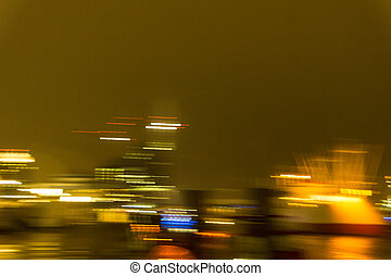 The St Pauli Landing Stages with Skyline Hamburg City