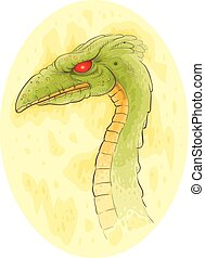 Green Dragon - An illustration of a green dragon