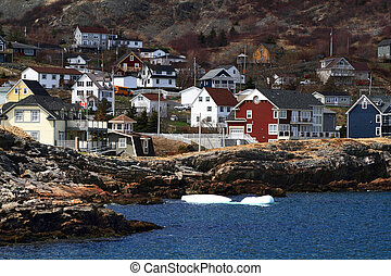 Vacation homes on the shore of Brigus Cove Newfoundland...