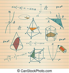 Geometric shapes and expressions sk