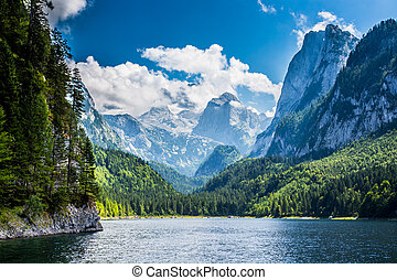 Lake - Beautiful lake in high mountains Alps Austria