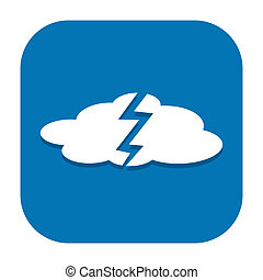 Weather icon - Bad weather icon with thundercloud isolated...