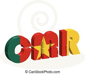 Cameroon Flag in puzzle - Vector illustration of Cameroon...