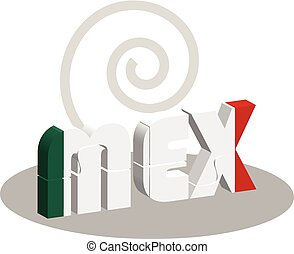Mexico Flag in puzzle - Vector illustration of Mexico Flag...