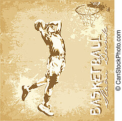 slam dunk basketball - basketball vector illustration for...