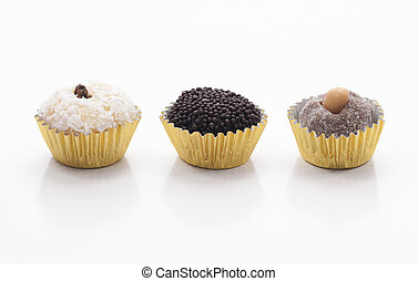 Three Brazilian Sweets - Beijinho, Brigadeiro and Cajuzinho...