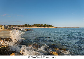Rocky Ocean Shore - Rocky ocean shore Crystal Crescent...