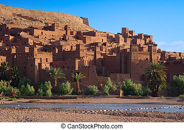 traditional Moroccan Casbah - morning view on traditional...