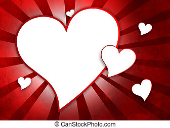 Valentines Day greating card - Hearts for valentines day