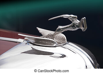 Deer hood ornament - hood ornament from american car built...