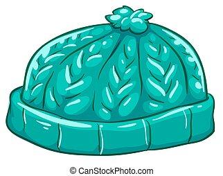 A blue bonnet - Illustration of a blue bonnet on a white...