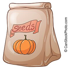 A pack of squash seeds - Illustration of a pack of squash...